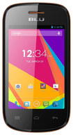 Blu - Dash JR TV Cell Phone (Unlocked) - Black/Orange