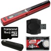 VuPoint Solutions - Magic Wand Portable Scanner with 16GB Card + Reader + Case + Cloth - Red