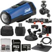Coleman - Aktivsport CX9WP GPS HD Video Action Camera Camcorder + 32GB + Car Suction Cup + Dashboard Mounts - Blue