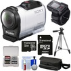 Sony - HDR-AZ1 Mini HD Video Camera Camcorder+Live View Remote with 32GB Card+Case+Tripod+Accessory Kit