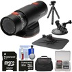 Replay XD - Prime X Waterproof Wi-Fi HD Action Camcorder + 32GB Card + Car Suction Cup + Dashboard Mounts - Black