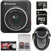 Transcend - DrivePro 200 1080p Full HD Car Dashboard Video Recorder with 32GB Card + Case + Accessory Kit - Black