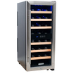 KoldFront - Koldfront 24 Bottle Free Standing Single Zone Wine Cooler - Black and Stainless Steel - Black