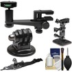 Makaw - Makaw Video Perch Camera Mount Clamp+Ballhead Quick Release+Tripod Adapter+Curved Helmet+Arm Mounts - Black