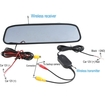"AGPtek - 4.3"" Color TFT-LCD Car Wireless Rearview Mirror Monitor for Screen Reverse w/ Wireless Transmitter"