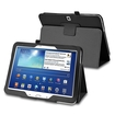 """eForCity - Stand Folio Flip Leather Case Cover for Samsung Galaxy Tab 3 10.1"""" LTE / 10.1"""" 3G / 10.1"""" Wifi - Black"""