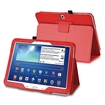 """eForCity - Stand Folio Flip Leather Case Cover for Samsung Galaxy Tab 3 10.1"""" LTE / 10.1"""" 3G / 10.1"""" Wifi - Red"""