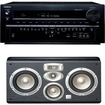 Onkyo - TX-NR838 7.2 Channel Receiver Plus A JBL LC2 4-Way High Performance Center Channel Speaker - Black
