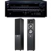 Onkyo - TX-NR838 7.2 Channel Receiver Plus A Pair of JBL Studio 270 3-Way Floorstanding Speakers - Black