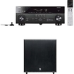 Yamaha - RX-A740 7.2 Channel 4K Receiver Plus A Boston Acoustics Classic II CSSUB10 Powered Subwoofer - Black