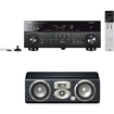 Yamaha - RX-A740BL 7.2 Channel 4K A/V Receiver Plus A JBL Studio LC1 3-Way Center Channel Loudspeaker - Black