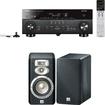 Yamaha - RX-A740BL AVENTAGE 7.2 Channel Receiver Plus A JBL Studio L830 3-Way Bookshelf Loudspeakers - Black