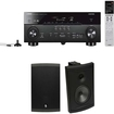 Yamaha - RX-A740 7.2 Channel Receiver Plus A Pair of Boston Acoustics Voyager 70 All-Weather Speakers - Black