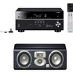 Yamaha - RX-V677 7.2-channel Receiver & A JBL LC1 3-Way High Performance Center Channel Speaker - Black