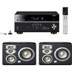 Yamaha - RX-V677 7.2-channel Receiver Plus A Pair of JBL Studio L820 4-Way Center Channel Loudspeaker - Black