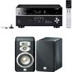 Yamaha - RX-V677 7.2-channel Wi-Fi Receiver Plus A Pair of JBL Studio L830 3-Way Bookshelf Loudspeaker - Black