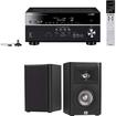 Yamaha - RX-V677 7.2-channel Receiver Plus A Pair of JBL Studio 220 4-Inch 2-Way Bookshelf Speakers - Black