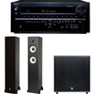 Onkyo - TX-NR838 7 Channel Dolby Atmos Ready Receiver Plus A Boston Acoustics Classic II 2.1 Speaker System - Black