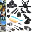 EEEKit - 15in1 Accessories Kit for GoPro Hero4 GoPro Hero 4 3+/3,Micro HDMI to HDMI Cable+AC Wall/Car Charger - Black
