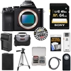 Sony - Alpha A7R Digital Camera Body with 64GB Card + Battery + Charger + Case + Tripod + Kit - Black