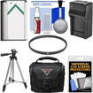 Vivitar - Essentials Bundle for Sony Cyber-Shot DSC-H400 + DSC-HX400V Camera + Case + NP-BX1 Battery + Charger - Black