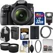 Sony - Alpha SLT-A58 DSLR Camera Body + 18-55mm Lens with 32GB Card + Backpack + Flash + Battery - Black