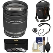 Canon - EF-S 18-200mm f/3.5-5.6 IS Zoom Lens with Case + 3 UV/CPL/ND8 Filters + Kit - Black