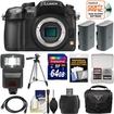 Panasonic - Lumix DMC-GH3 Micro Four Thirds Digital Camera Body with 64GB Card+2 Batteries+Case+Flash+Tripod+Kit - Black