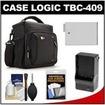 Case Logic - TBC-409 Digital SLR Camera Shoulder Case w/ LP-E8 Battery+Charger+Acc Kit f/ Rebel T3i T4i T5i Deal