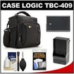 Case Logic - DSLR Camera Shoulder Case +EN-EL14 Battery+Charger+Acc Kit f/ D3100 D3200 D5100 D5200