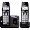 Panasonic - KX-TGE232B Dect 6.0 Expandable Digital Cordless Answering System, 2 Handsets - Black