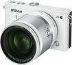 Nikon - 1 J4 Digital Compact System Camera with 1 NIKKOR 10-100mm f/4-5.6 VR Lens - White
