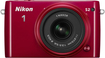 Nikon - 1 S2 Digital Compact System Camera with 1 NIKKOR 11-27.5mm f/3.5-5.6 Lens - Red
