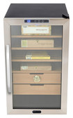 Whynter - 2.5 Cu. Ft. Cigar Cooler Humidor - Stainless-Steel