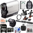 Sony - Action Cam Wi-Fi HD Camcorder+Live View Remote+64GB+2 Helmet Flat+Suction Cup Mounts+Batt+Backpack