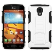 Insten - Car Armor Dual Layer [Shock Absorbing] Protection Hybrid Stand PC/Silicone Case Cover for LG Volt LS740 - White / Black (White/Black)
