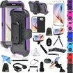 EEEKit - Bundle 18 Items Accessories for Samsung Galaxy S6,Belt Clip Armor Case+Selfie Stick+Tripod+Car Mount