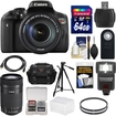 Canon - Bundle EOS Rebel T6i Wi-Fi Digital SLR Camera & EF-S 18-135mm IS & 55-250mm IS STM Lens with 64GB Card
