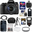 Canon - Bundle EOS Rebel T6s Wi-Fi Digital SLR Camera & EF-S 18-135mm IS STM & 75-300mm III Lens with 64GB Card