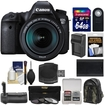 Canon - Bundle EOS 6D Digital SLR Camera Body & EF 24-105mm IS STM Lens with 64GB Card + Backpack