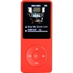 Image - Latest Version 8GB & 70 Hours Playback MP3 Lossless Sound Music Player-Supports up to 64GB - Red