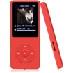 Agptek - 2015 Version 8GB & 70 Hours Playback MP3 Lossless Sound Music Player (Supports up to 64GB) - Red