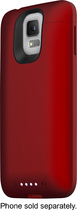 mophie - juice pack External Battery Case for Samsung Galaxy S 5 Cell Phones - Red