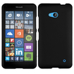 Insten - Rubberized Hard Snap-in Case Cover Compatible with Microsoft Lumia 640 - Black
