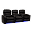 Lane - Dynasty Home Theater Seating - Bonded Leather - Row of 3 - Power Recline - Black