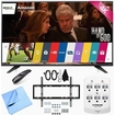 LG - Bundle 55UF7600 - 55-inch 2160p 120Hz 4K UHD Smart LED TV w/ WebOS Mount/Hook-Up Bundle