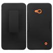 Insten - Rubberized Hard Snap-in Holster Case Cover for Microsoft Lumia 640(ATT)/640(Circket)/640(Metro PCS)/640(T-mobile) - Black
