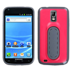Insten - Stand TPU Rubber Candy Skin Case Cover Compatible with Samsung Galaxy S2 Hercules SGH-T989 (T-Mobile) - Hot Pink / Gray