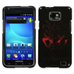 Insten - Darkness Heart Hard Snap-in Case Cover Compatible with Samsung Galaxy S2 Attain SGH-I777 (ATT) - Black / Red