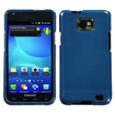Insten - Carbon Fiber Crystal Hard Snap-in Transparent Case Cover Compatible with Samsung Galaxy S2 Attain SGH-I777 (ATT) - Blue